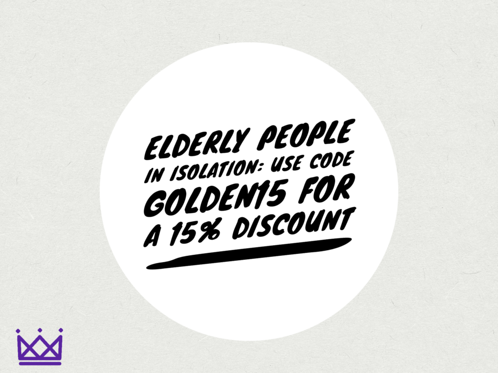 Discount code for the elderly