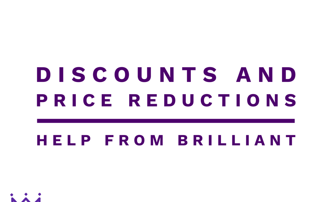 Discounts and Price Reductions – Help from Brilliant